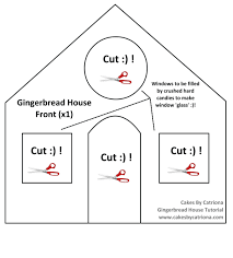 Template Gingerbread House Template Printable Get All You Need