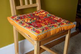 orange dining room chair cushions