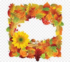 sunflower border clipart png