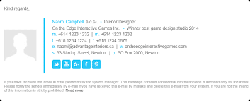 Free Email Signature Templates Free Email Signature