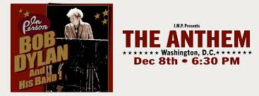 Seating Chart Anthem Dc Bob Dylan His Band Tickets The Anthem Washington Dc