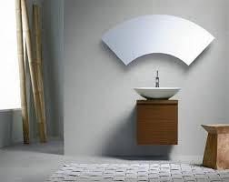 Bathroom , 8 Awesome Unusual Bathroom Mirrors : Mirror Fan Shaped