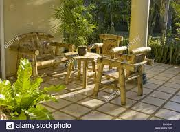 furniture made of bamboo. Garden Furniture Chairs Table Made From Bamboo Of