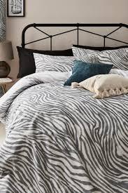 reversible zebra print duvet cover