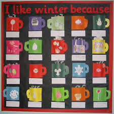 winter bulletin board ideas. Brilliant Winter Hereu0027s A Really Steamy Idea Hot Chocolate Although This Background Is  High Contrast Black You Could Also Choose Silver Or Gold Wrapping Paper For Extra  On Winter Bulletin Board Ideas I