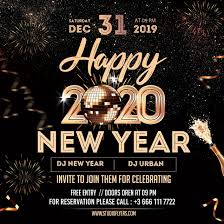 New Year Flyers Template Happy New Year 2020 Free Psd Flyer Template Free Psd Flyer