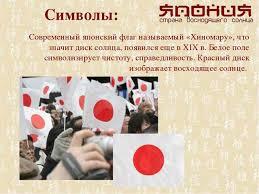 Презентация по окружающему миру на тему quot Япония quot класс  Символы Современный японский флаг называемый Хиномару что значит диск сол