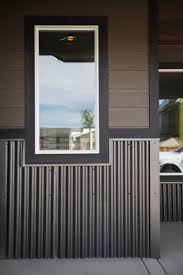 corrugated metal is an easy way to make your home stand out