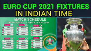 Euro Cup 2021 Fixture in Indian Time ...