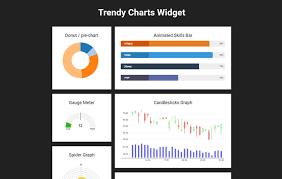 Free Gauge Chart Trendy Charts Widget Flat Responsive Widget Template