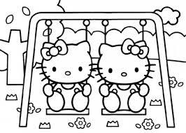 Hello Kitty Al Parco Giochi Disegni Da Colorare