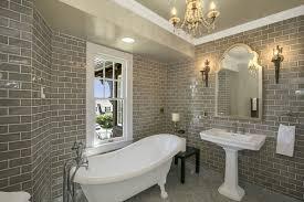 clawfoot tub bathroom ideas. A Glossy Finish On The Brick In This Bathroom Give Space Sense Of Depth Clawfoot Tub Ideas