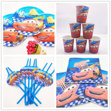 Lightning Mcqueen Birthday Party Us 8 24 25 Off 50pcs Set Disney Lightning Mcqueen Paper Plate Kids Boys Favor Happy Birthday Party Supplies Decoration In Disposable Party Tableware