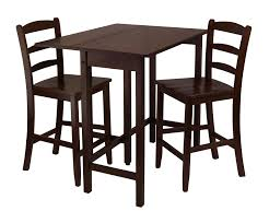 Winsome Wood Lynnwood 3pc Drop Leaf High Table With 2 Counter Ladder