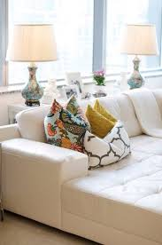 white leather couches with pillows. Brilliant Couches Going To Bring In Some Bright Colors Sith My White Leather Couches In White Leather Couches With Pillows T