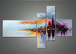 multi canvas abstract wall art