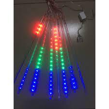 Rèm Đèn Led Chống Nước Ngang 3M Thả Xuống 8 Ống Đèn Led Sao Băng Dài 50 CM  Trang Trí Tiệc Ngoài Trời Sân Vườn Noel