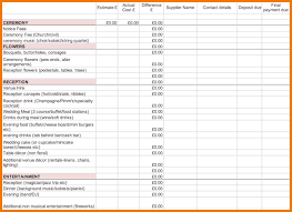 wedding budget excel template 4 wedding budget excel spreadsheet expense report