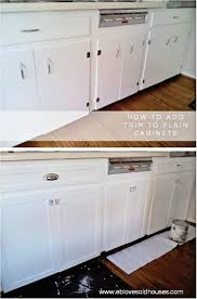 65 examples aesthetic adding trim to existing plain kitchen cabinet doors this is my with regard proportions x moldingolding flat tips john deere
