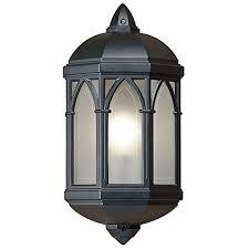gothic lantern lighting. Gothic 75W Half Lantern Outdoor Wall Light Lighting