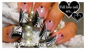 Black and White Nail Art | Monochrome French Tip Nails ♥ - YouTube