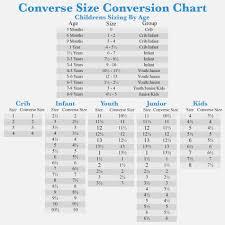 Converse Kids Size Chart