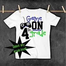 4th Grade Shirt Designs First Day At School For Your Boy Check Out My Kids Back To