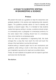 Scientific Writing Pdf A Road To Scientific Writing In Engineering Science