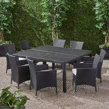 9 piece cast aluminum frame patio