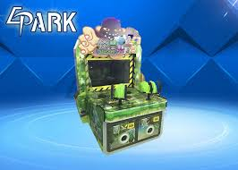 Monster Vending Machine Simple The Monster Comes Gun Shooting Push Coin Game Machine Video Game