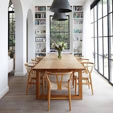 wishbone dining chair natural wood scandi style