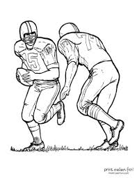 In addition, the kid is carried away and does not bother his mother while she does her business. 14 Football Player Coloring Pages Free Sports Printables Print Color Fun