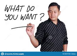 What Do You Want Motivational Words Quotes Concept Stock Image