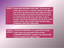 essay writing course iv summary sentence goes here 21