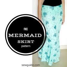 Mermaid Skirt Pattern Stunning Make A Mermaid Skirt Free Sewing Pattern Tutorial Sew Guide