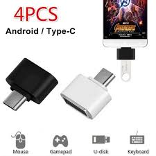 <b>4PCS</b> Micro USB Type-C OTG <b>Cable Adapter</b> Type C USB-C OTG ...