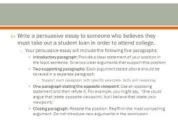 life after high school day ppt  write a persuasive essay to someone who believes they must take out a student loan in