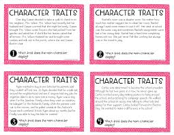 character traits task cards for 3rd 5th grades