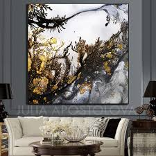 wall art canvas with grey white gold
