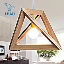 geometric modelling oak wood lamp box wooden american droplight restaurant cafe personality real wood bar lamp exterior pendant light lamp pendant from