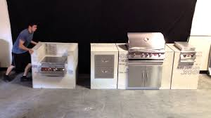 Making An Outdoor Kitchen Outdoor Kitchen Modules Fully Assembled W Cement Board Youtube