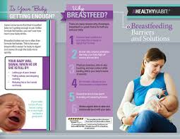 baby pamphlets breastfeeding barriers and solutions tri fold brochures