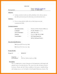 Free Resume For Freshers 100 bca resume format bike friendly windsor 71