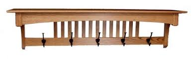 Wall Shelf Coat Rack Mission Oak Wall Shelf Coat Rack Home Essentials Amish 77