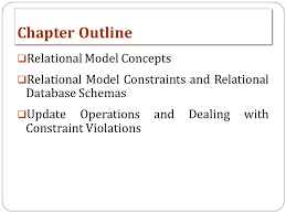 Chapter 5 The Relational Data Model And Relational Database