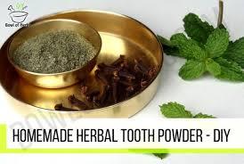 homemade tooth powder diy