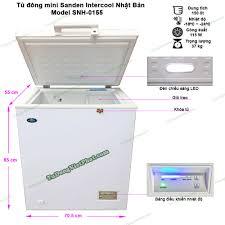 Tủ đông mini Sanden Intercool SNH-0155 150 lít - Giá rẻ nhất T11/2020