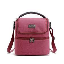 <b>7L</b> Lunch Box Bag Oxford Cloth Portable <b>Double Layers</b> Insulated ...