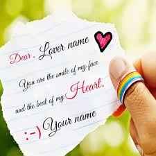 Write Name On Cute Love Note Profile PictureCreate Your Custom Love Simple Love Pics With Name Edit