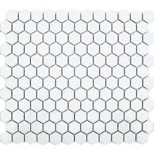 bring your walls and floors right up to trend with these sleek and stylish white hexagon matt tiles part of our selection of hexagonal white mosaic tiles